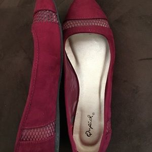 Raspberry red flats 8.5 never worn